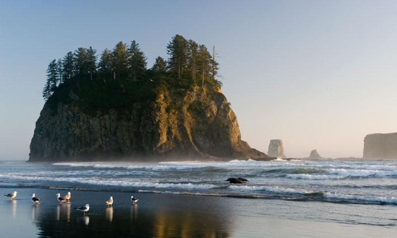Second Beach at La Push in Olympic National Park