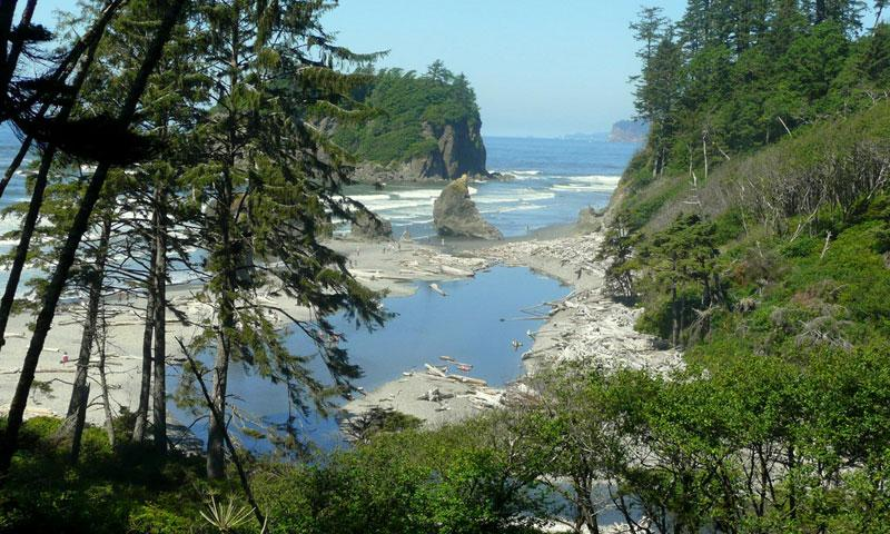 Ruby Beach along Olympic National Park