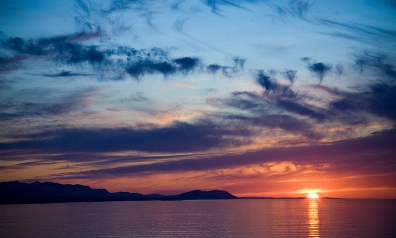 Sequim Bay and the Strait of Juan de Fuca