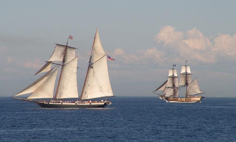 Sailing in the Strait of Juan de Fuca near Port Angeles