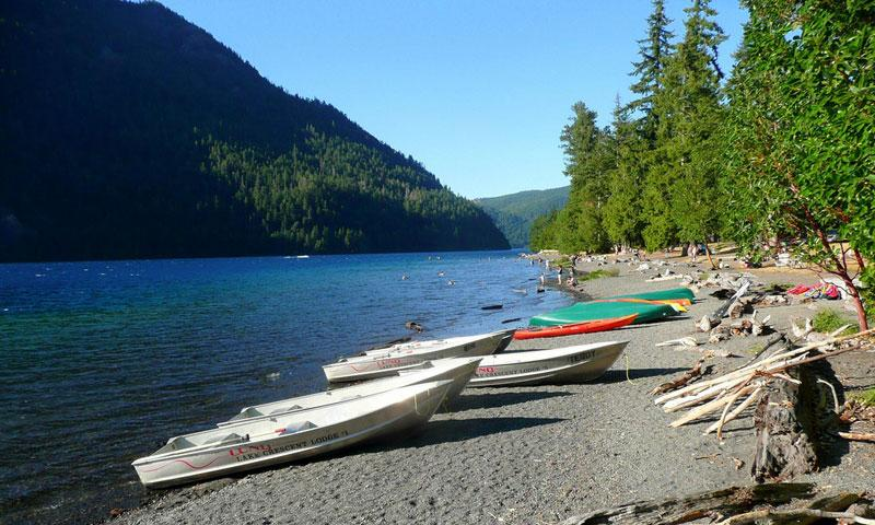 Boats at Lake Crescent