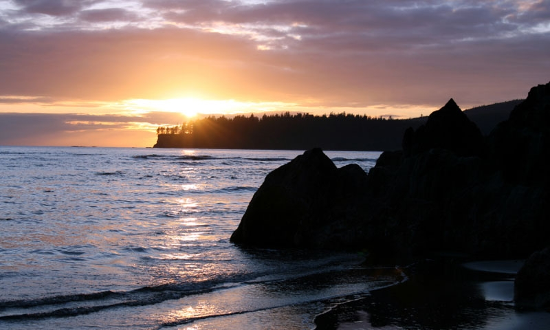 Neah Bay on the Makah Reservation along the Olympic Peninsula