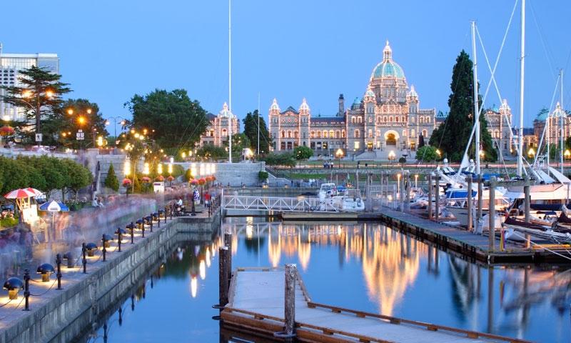 Parliament Building in Victoria Canada