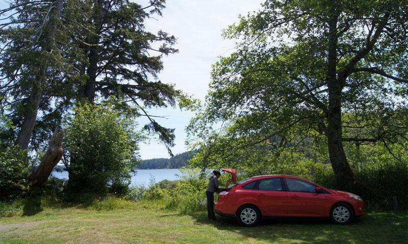 Lake Ozette Campground in Olympic National Park