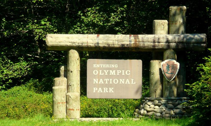 Welcome Sign to Olympic National Park