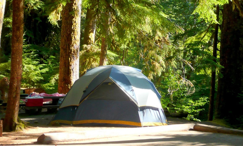 Sol Duc Campground in Olympic National Park