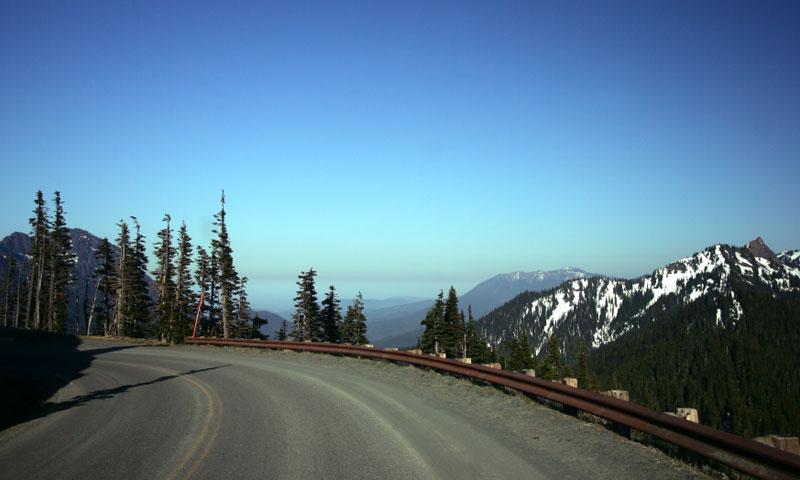 Hurricane Ridge Road in Olympic National Park