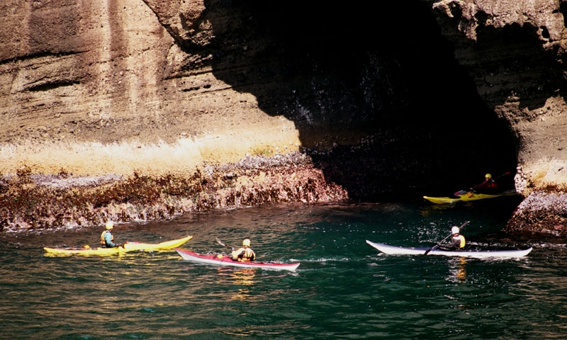 Sea Kayaking near Cape Flattery in Olympic National Park