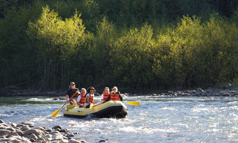 Rafting the Elwha River in Washington